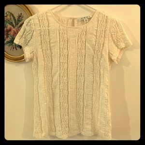 Ivory lace Cabi top XS